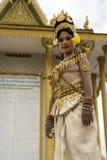 Apsara-Tänzer Performance im Tempel Lizenzfreies Stockbild