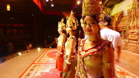Apsara-Tänzer von Siem Reap Kambodscha lizenzfreie stockbilder