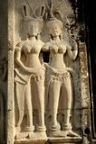 Apsara tancerzy Kamienny cyzelowanie w Kambodża, Obraz Royalty Free