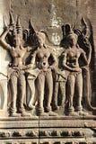 Apsara tancerzy Kamienny cyzelowanie w Kambodża, Fotografia Stock