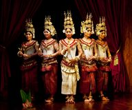 Apsara taniec, Kambodża Obraz Royalty Free