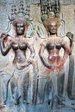Apsara on the wall of Angkor Wat Royalty Free Stock Photos