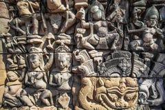 Apsara on the wall of Angkor Wat Stock Photography