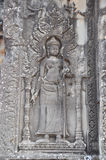 Apsara on the wall of temple Phnom Bakheng Stock Image