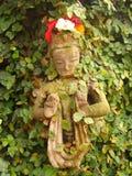 Apsara. Womens  god inhabiting wood . Kathmandu ,. Nepal Stock Photo