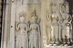 Apsaras με τα διάφορα hairstyles Στοκ Εικόνες