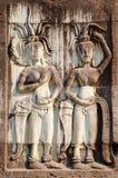 Apsaras, χαμηλή ανακούφιση σε Angkor Στοκ φωτογραφία με δικαίωμα ελεύθερης χρήσης