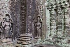 Apsaras на древнем храме в районе Angkor Стоковые Изображения RF