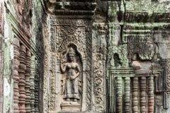 Apsaras на Angkor Wat, Камбодже Стоковое Изображение