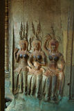Apsaras at Angkor Wat Stock Photography
