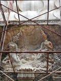 Apsaras basrelief royaltyfri foto