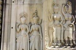 Apsaras con los diversos peinados Foto de archivo