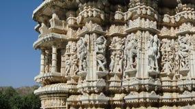 Apsaras, dansende meisjes en heiligen Jain Stock Afbeeldingen