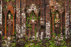 Apsaras and devatas carved in stone in Angkor city Stock Photography