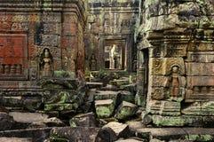 apsaras khan preah雕象寺庙 库存照片