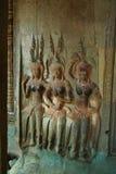 Apsaras på Angkor Wat arkivbild