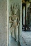 Apsaras på Angkor Wat arkivbilder
