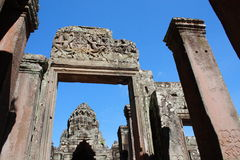 Apsaras taniec w Bayon, Kambodża Obrazy Stock