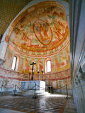 Apse και βωμός στη βασιλική Aquileia Στοκ Εικόνες