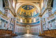 Apse της βασιλικής Αγίου John Lateran στη Ρώμη Στοκ Φωτογραφίες
