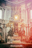 Apse of basilica of St. Peter's in Rome Royalty Free Stock Images