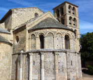 Apse and belfry. Of the church of Caunes-Minervois's Abbey Royalty Free Stock Photos