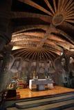 Apse in crypt of Antoni Gaudi, Barcelona, Spain Royalty Free Stock Image