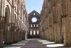 Apse en la abadía de San Galgano, Toscana. Imagen de archivo libre de regalías