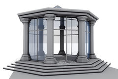 Apse octagonal glass Stock Images
