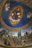 Apse of Santa Croce in Gerusalemme church with fresco of Christ Royalty Free Stock Photo