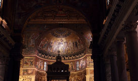 Apse of the Santa Maria in Trastevere Church Royalty Free Stock Images