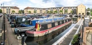 Apsley Marina - Narrow boat Stock Images
