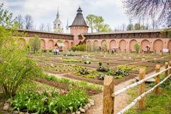 Apteka ogród w monasterze Suzdal turystyczny miasteczko Rosja, Złoty pierścionek obraz royalty free