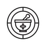 Apteki ikony wektoru znak i symbol odizolowywający na białym tle, apteka loga pojęcie ilustracji