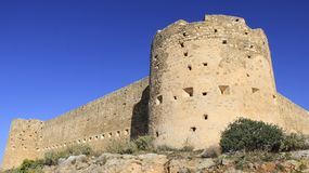 Aptera堡垒古老历史的地方  免版税库存照片