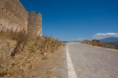 Aptera. Ancient city of Greece. Fortification wall of the ancient city Aptera in Crete, Greece Stock Photo