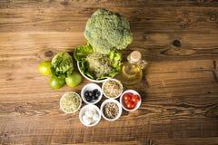 Aptidão, alimento saudável, baixo nas calorias fotografia de stock royalty free