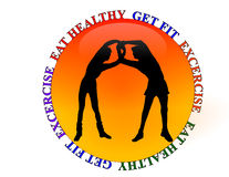 Aptidão da ginástica ou ícone do exercício Imagens de Stock Royalty Free