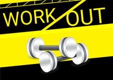Aptidão do exercício do peso saudável e vetor do fundo do conceito do esporte Fotos de Stock