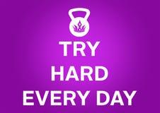 Aptidão e citações da motivação do gym Fotografia de Stock Royalty Free