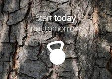 Aptidão e citações da motivação do gym Fotos de Stock Royalty Free