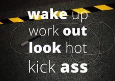 Aptidão e citações da motivação do gym Imagens de Stock Royalty Free