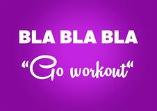 Aptidão e citações da motivação do gym Fotos de Stock