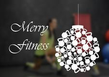 Aptidão e citações da motivação do gym Fotografia de Stock