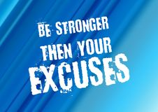 Aptidão e citações da motivação do gym Imagens de Stock