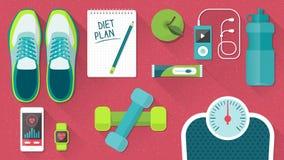 Aptidão e estilo de vida saudável ilustração stock