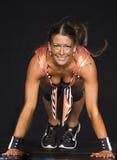 Aptidão galão: Golpeando uma pose atlética foto de stock royalty free