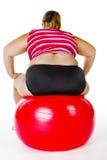 Aptidão gorda da mulher Imagens de Stock
