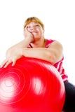 Aptidão gorda da mulher foto de stock royalty free
