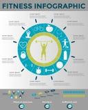 Aptidão Infographics Imagens de Stock Royalty Free